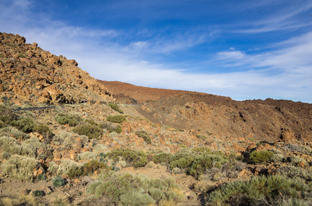 volcanic landscape: Volcanic landscape of Tenerife, Canary islands, Spain