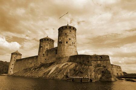 embrasure: Olavinlinna castle in Savonlinna, Finland