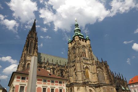 vitus: Saint Vitus cathedral at Prague, Czech Republic
