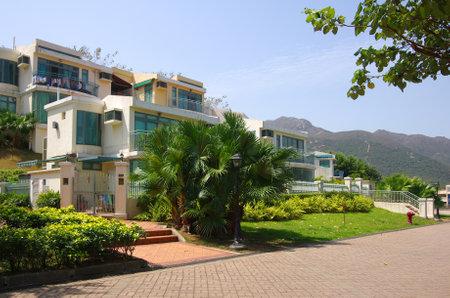 Apartment blocks in Lantau Island, Hong Kong