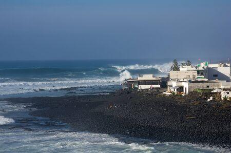 golfo: The village El Golfo on Lanzarote, Canary islands, Spain