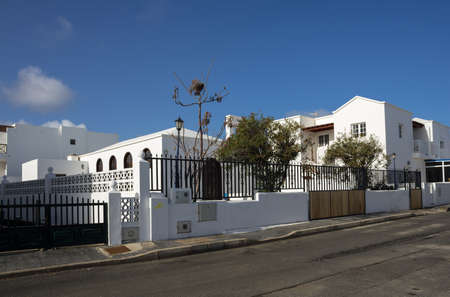 White houses of the island of Lanzarote, Canary Islands, Spain