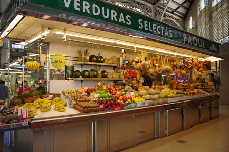 mercado central: VALENCIA, SPAIN - OCTOBER 07, 2014: Mercado Central in Valencia, Spain. Historic Mercado Central is one of the oldest markets in Europe