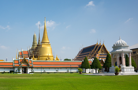 the emerald city: The Grand Palace complex in Bangkok,Thailand