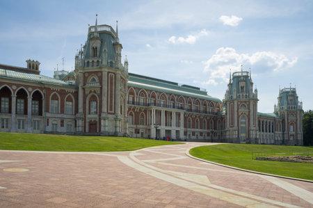 tsaritsino: Palace of queen Ekaterina Second Great in Tsaritsino, Moscow, Russia