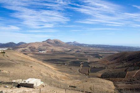 lanzarote: Top view on Canary Island Lanzarote, Spain Stock Photo