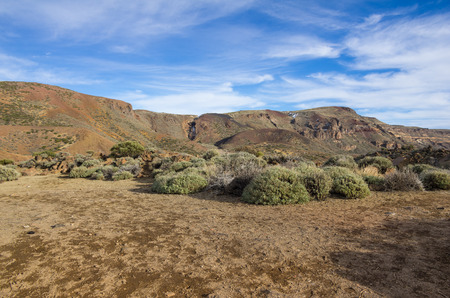volcano slope: Volcanic landscape of Tenerife, Canary islands, Spain