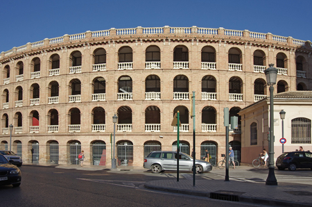 toros: VALENCIA, SPAIN - OCTOBER 07, 2014: Plaza de Toros de Valencia. Every year Valencia (third size population city in Spain) welcomes more than 4 million visitors Editorial