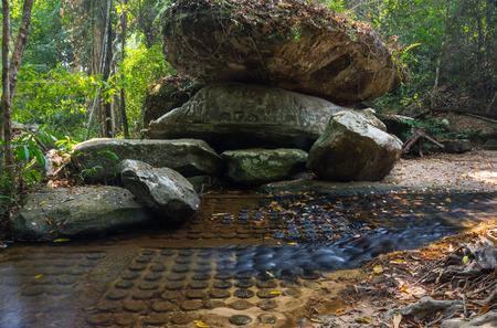 stone carvings: Kbal Spean stone carvings in Angkor Wat, Cambodia