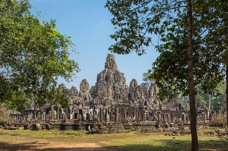 bayon: Bayon temple at Angkor Wat complex, Siem Reap, Cambodia