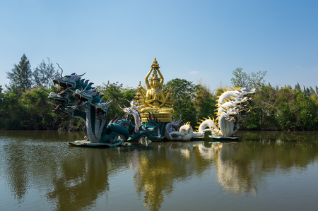 SAMUT PRAKAN, THAILAND - FEBRUARY 05, 2015: Ancient Siam (also known as Ancient City or Mueang Boran) the 320-hectare city with 116 structures of Thailands famous monuments
