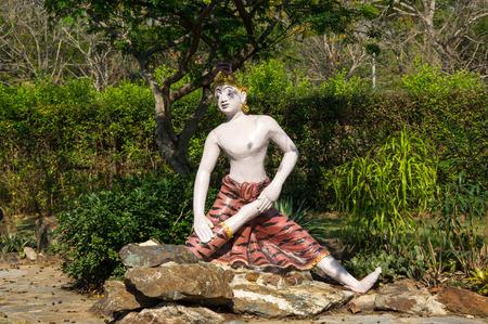 samut prakan: Statue of yogi in Samut Prakan province, Thailand