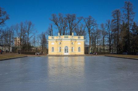 bathhouse: Bathhouse pavilion in Catherines park  in Tsarskoe Selo near Saint Petersburg, Russia