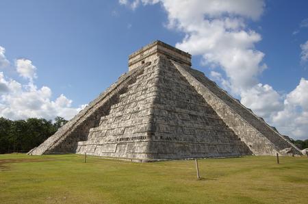 kukulkan: The Kukulkan Pyramid in Chichen Itza which known as �El Castillo� (the castle), Mexico