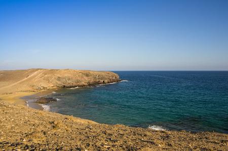 playa: Playa de Papagayo (Parrots beach) on Lanzarote, Canary islands, Spain