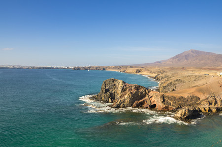 lanzarote: Playa de Papagayo (Parrots beach) on Lanzarote, Canary islands, Spain