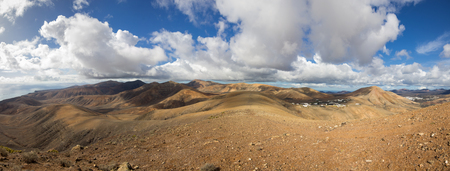 volcanic landscape: Volcanic landscape of the island of Lanzarote, Canary Islands, Spain Stock Photo