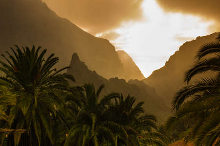 Mountain landscape at sunset on Tenerife, Canary Islands, Spain