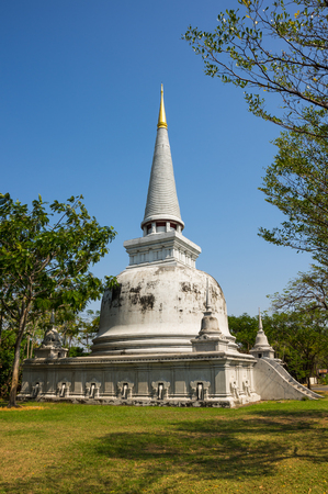 SAMUT PRAKAN, THAILAND - FEBRUARY 05, 2015: Ancient Siam (also known as Ancient City or Mueang Boran) the 320-hectare city with 116 structures of Thailands famous monuments and architectural attractions