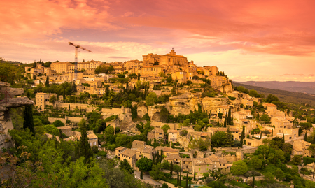 gordes: View on the beautiful medieval village of Gordes. This village is included in list of The most beautiful villages of France