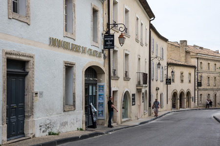 gordes: GORDES, FRANCE - MAY 03, 2015: Street of medieval village of GORDES, which is included in list of The most beautiful villages of France