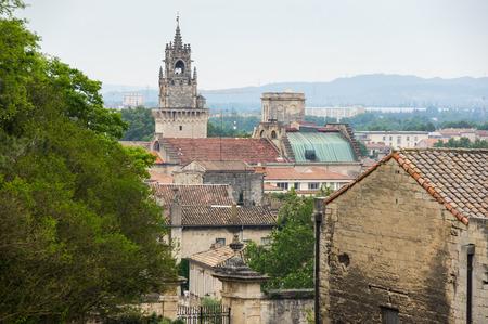 avignon: Top view on buildings of Avignon, France