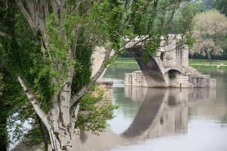 avignon: Pont dAvignon and Rhone river in Avignon, France