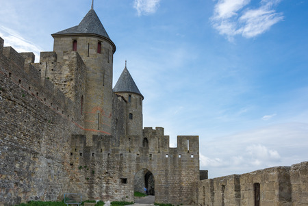 roussillon: Medieval castle of Carcassonne, Languedoc - Roussillon province, France