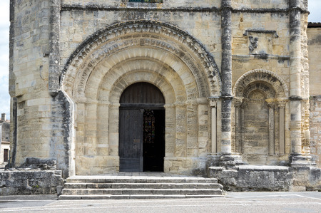 cloister: The Collegiate Church and Cloister in the centre of Saint-Emilion, France