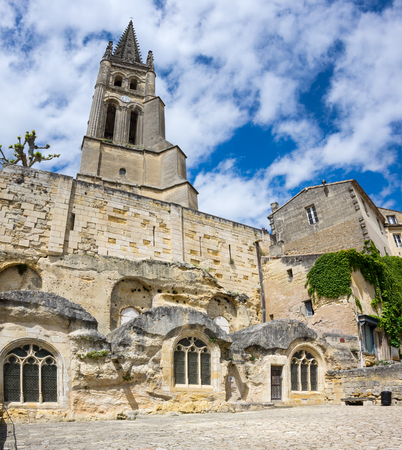 monolithic: The monolithic church in Saint-Emilion, France
