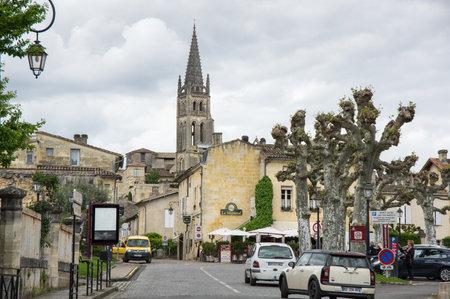 bordeaux region: SAINT-EMILION, FRANCE - MAY 06, 2015: Saint-Emilion - one of the main red wine production areas of Bordeaux region, France. Editorial