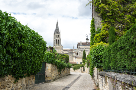 Saint-Emilion - one of the main red wine production areas of Bordeaux region, France. 免版税图像 - 55160942