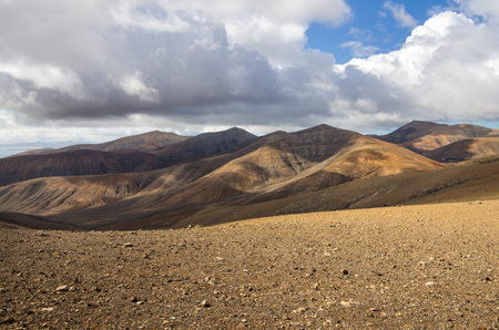 lanzarote: Volcanic landscape of the island of Lanzarote, Canary Islands, Spain Stock Photo
