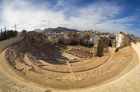 roman amphitheater: Ruins of roman amphitheater in Cartagena, Spain Editorial