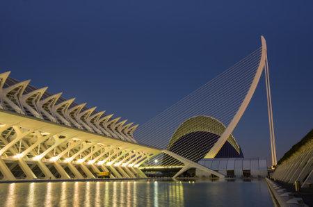 sciences: VALENCIA, SPAIN - OCTOBER 07, 2014: Prince Philip Science Museum in the City of Arts and Sciences (Ciudad de las artes y las ciencias) in Valencia, Spain
