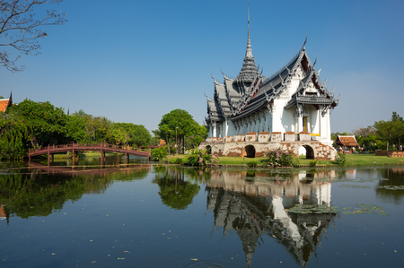 thai temple: Sanphet Prasat Palace in Samut Prakan province, Thailand Stock Photo