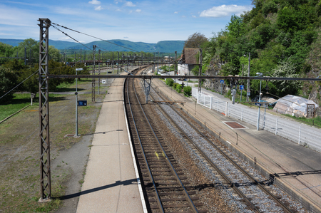 france station: Railway station in town Culoz, Haute Savoie province in France