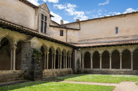 collegiate: The Collegiate Church and Cloister in the centre of Saint-Emilion, France
