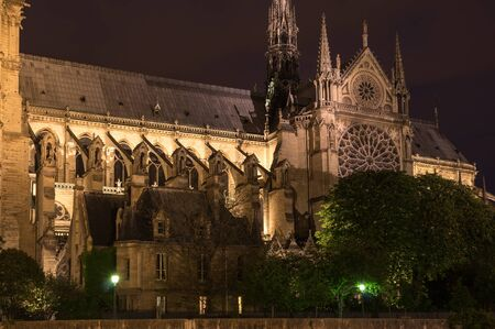 ile de la cite: Notre-Dame de Paris (French for Our Lady of Paris) is a medieval Catholic cathedral on the Ile de la Cite in Paris, France. The cathedral is widely considered to be one of the finest examples of French Gothic architecture, and is among the largest and m Stock Photo