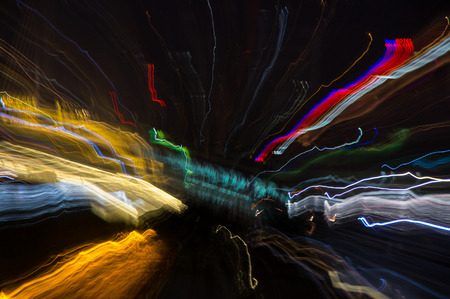 streetlights: Abstract pattern of city lights from cars, windows, streetlights and bars Stock Photo