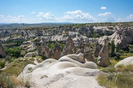anatolia: Stone formations in Cappadocia, Central Anatolia,Turkey Stock Photo
