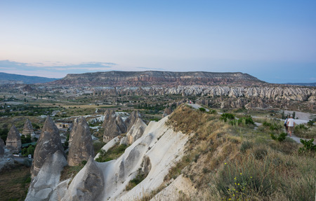 goreme: Valley near Goreme in Cappadocia, Central Anatolia,Turkey Stock Photo