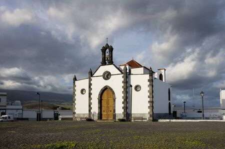 Old church at Punta de Abona - little town on the coast of Tenerife, Canary island