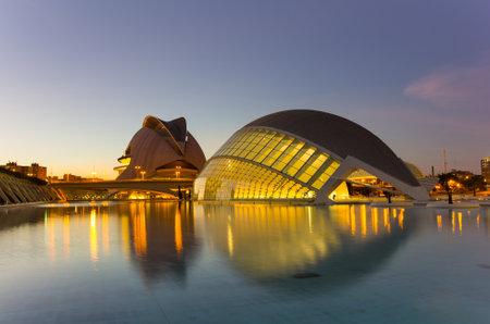 VALENCIA, SPAIN - OCTOBER 07, 2014: L'Hemisferic, a IMAX 3D-cinema, planetarium and laserium in the City of Arts and Sciences (Ciudad de las artes y las ciencias) in Valencia, Spain Editorial