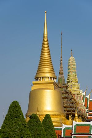 the emerald city: Wat Phra Kaew is one of the most popular tourists destination in Bangkok, Thailand