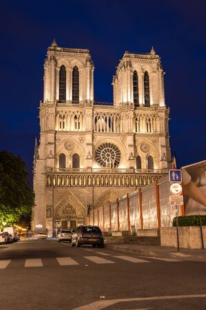 cite: PARIS, FRANCE - MAY 07, 2015: Notre-Dame de Paris (French for Our Lady of Paris) is a medieval Catholic cathedral on the Ile de la Cite in Paris, France. The cathedral is widely considered to be one of the finest examples of French Gothic architecture,