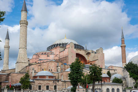 Hagia Sophia was a Greek Orthodox Christian patriarchal basilica (church), later an imperial mosque, and now a museum in Istanbul, Turkey