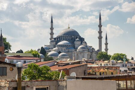 Panoramic view of european part of Istanbul, Turkey