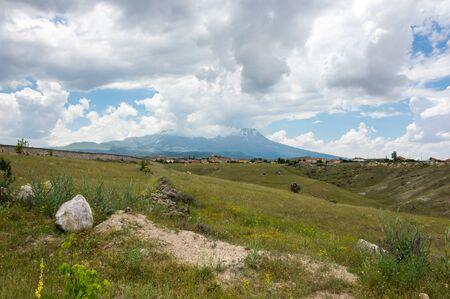 anatolia: Rural landscape in Cappadocia, Central Anatolia,Turkey Stock Photo