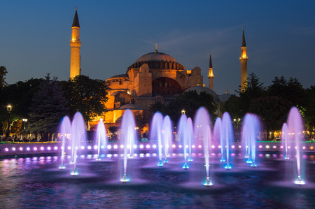 ISTANBUL, TURKEY - JUNE 25, 2015: Hagia Sophia was a Greek Orthodox Christian patriarchal basilica (church), later an imperial mosque, and now a museum in Istanbul, Turkey